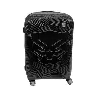Ful Marvel Black Panther Molded Hardsided 25in Rolling Luggage, Black