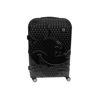 Ful Disney Textured Mickey Mouse 21in Hardsided Rolling Luggage, Black