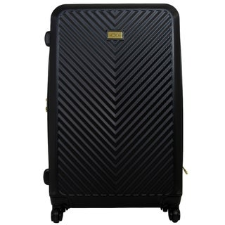 Macbeth Collection 31in Black Molded Quilt Hard Sided Rolling Luggage