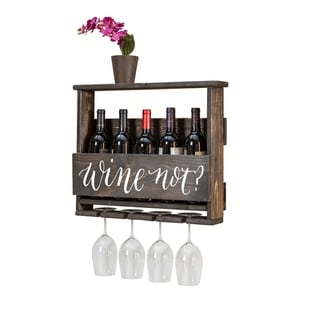 "Handmade Luxe ""Wine Not?"" Top Shelf Wine Rack"