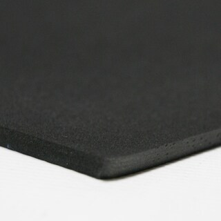 "Rubber-Cal Closed Cell Rubber EPDM - 39"" x 78"" - 8 Thickness Variations - Black"