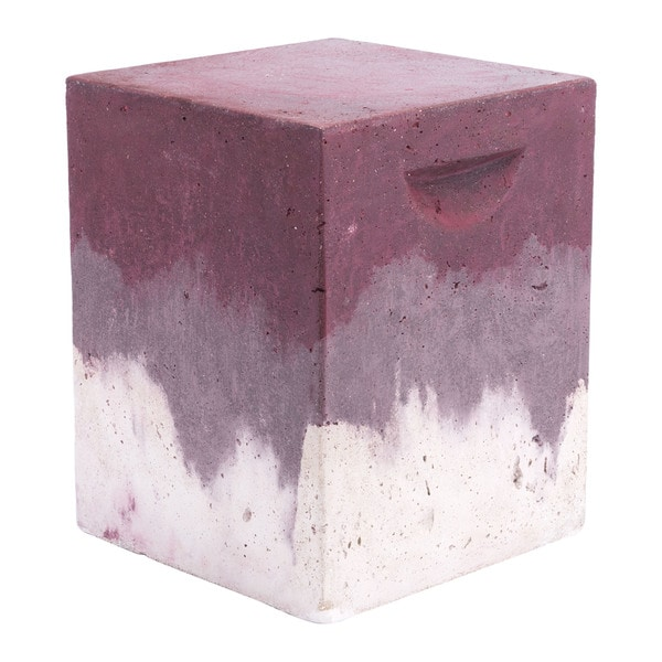 Shop Cubo Purple Cement Distressed Garden Seat On Sale