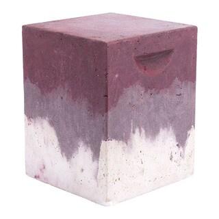 Cubo Purple Cement Distressed Garden Seat