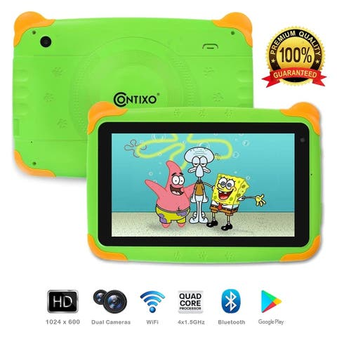 "Contixo K4 Kids Learning Tablet Android 6.0 7"" Touch Screen Display Bluetooth WiFi Camera Android Tablet - Green"