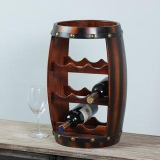 Eight Bottle Countertop Barrel Wine Rack