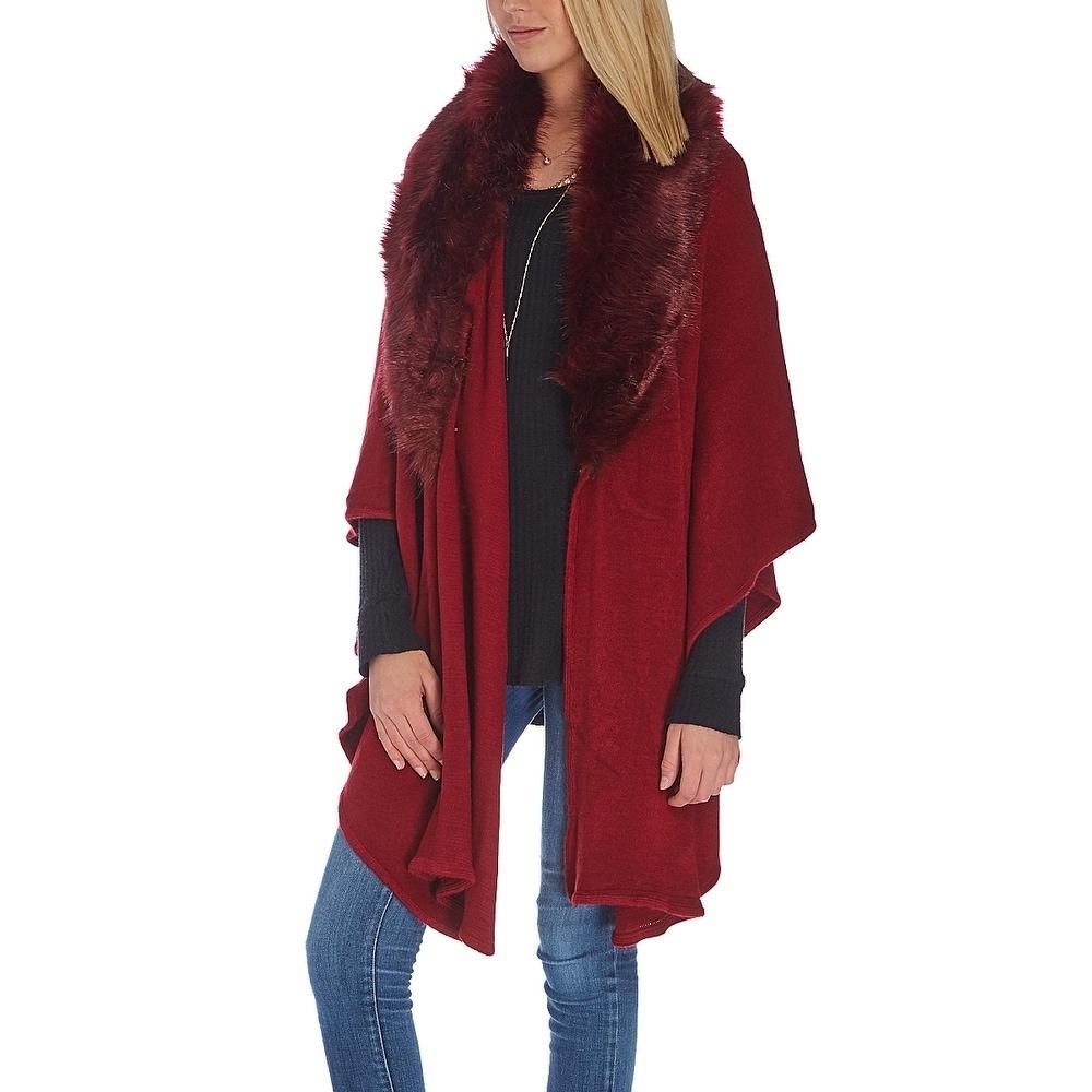 Ladies Fake Fur Collar Women Scarf Neck Shawl Scarves Cape Luxury Soft Comfy