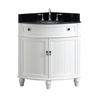Modetti Angolo 34-inch Single Sink Bathroom Vanity with Marble Top