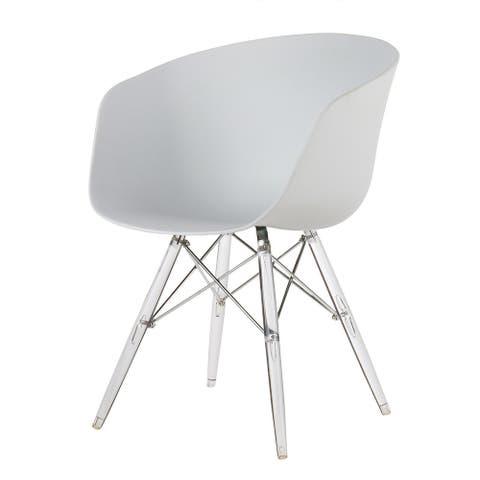 Danish Modern Side Chair, Clear Legs