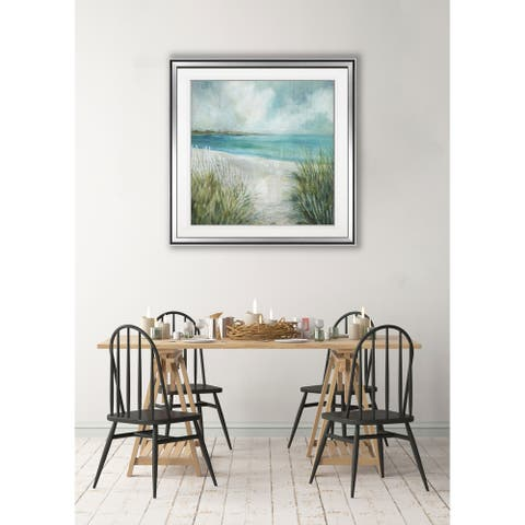 Coastal Fences -Framed Giclee Print