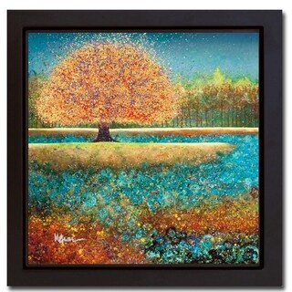 Jewel River by Melissa Graves-Brown Black Floater Framed Canvas Giclee Art (20 in x 20 in, Ready to Hang)