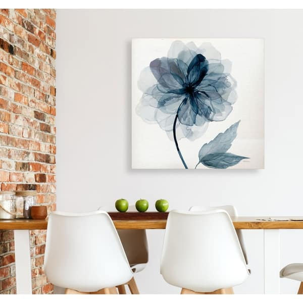 Fabulous Shop Indigo Bloom I Gallery Wrapped Canvas Yellow Blue Pabps2019 Chair Design Images Pabps2019Com