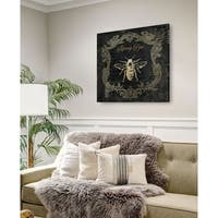 Royal Honey Bee II -Gallery Wrapped Canvas - yellow, blue, green, red, black, white
