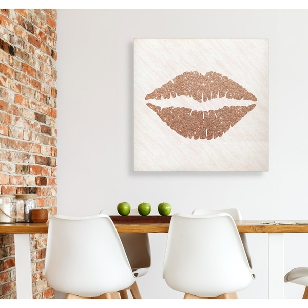 be1740f23d6f Shop Rose Gold Kiss -Gallery Wrapped Canvas - yellow