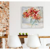 Red Arrangement -Gallery Wrapped Canvas - yellow, blue, green, red, black, white