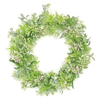 Wild blossom and seed wreath