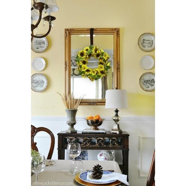 "24"" Lush sunflower wreath"