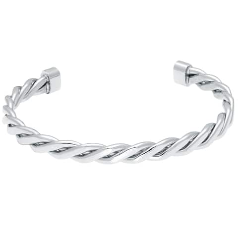 Stainless Steel Twisted Cuff Bangle