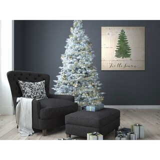 Tis the Season Pine -Gallery Wrapped Canvas - yellow, blue, green, red, black, white