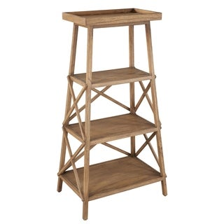 Hekman Furniture Natural Wood Trestle Bookcase
