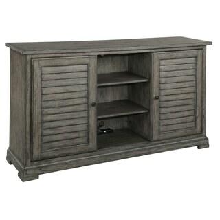 Hekman Furniture Grey Wood Storage Entertainment Credenza