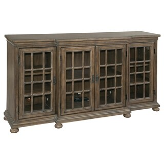Hekman Furniture Rustic Wooden/Glass 60-inch 4-cabinet Storage Entertainment Credenza