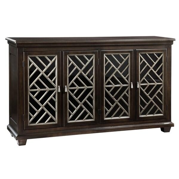 Shop Hekman Furniture Espresso Glass/Wood 4-cabinet Media