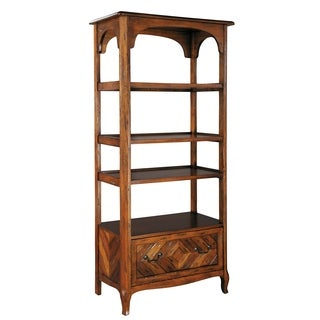 Hekman Furniture Office at Home Brown Wood Open 4-shelf Bookcase with Lateral Filing Cabinet