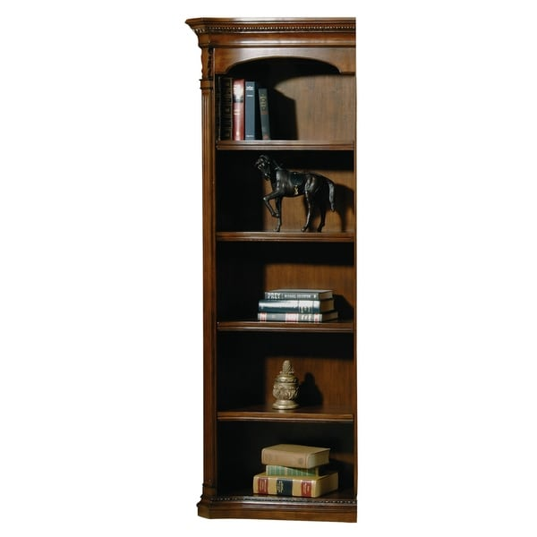 42a0f96514e63d Shop Old World Walnut Burl Wood 4-shelf Left Pier Only for Desk Top Media  Bookshelf - Free Shipping Today - Overstock - 24229436