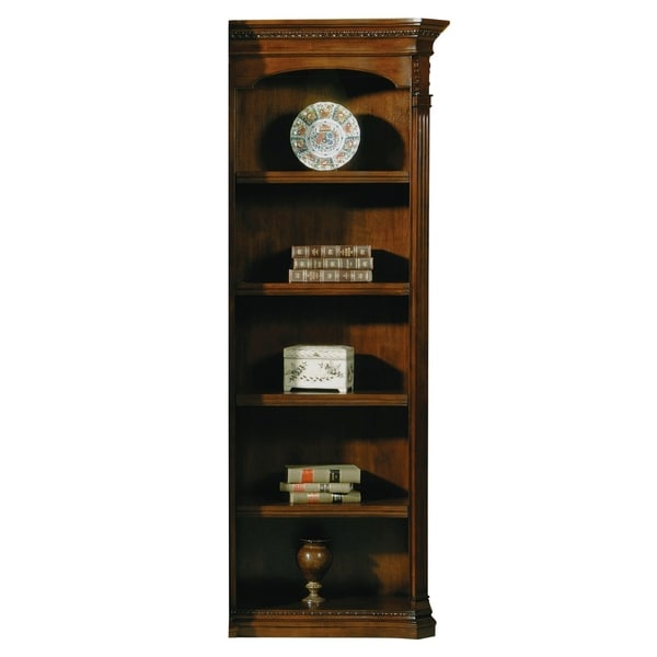 e693d01afeadde Shop Old World Walnut Burl Wood Right Pier Only for Desk Top Media Bookshelf  - Free Shipping Today - Overstock - 24229471