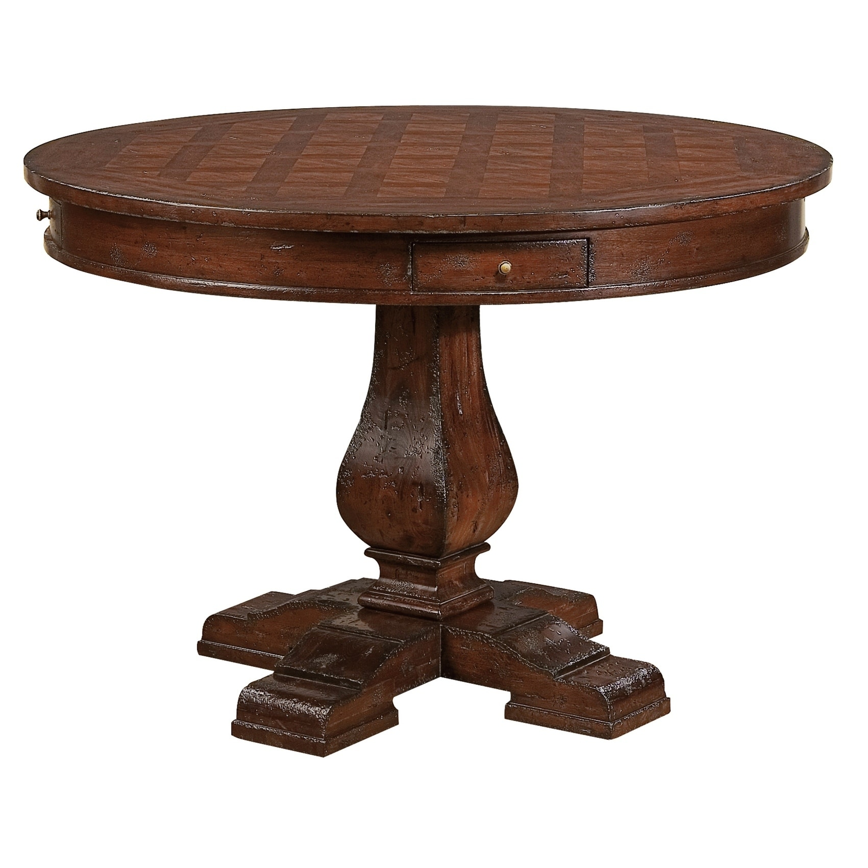 Hekman Furniture Havana Rustic Round Kitchen Dining Table With Drawers 30 In High X 44 Inche In Diameter X 30 36 In High Overstock 24229683