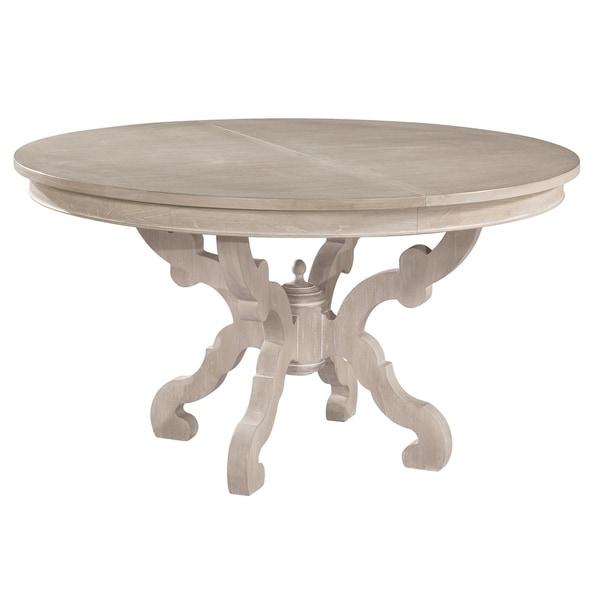 Hekman Furniture Suttons Bay Antique White Wood Coastal Baroque Round Kitchen Dining Table
