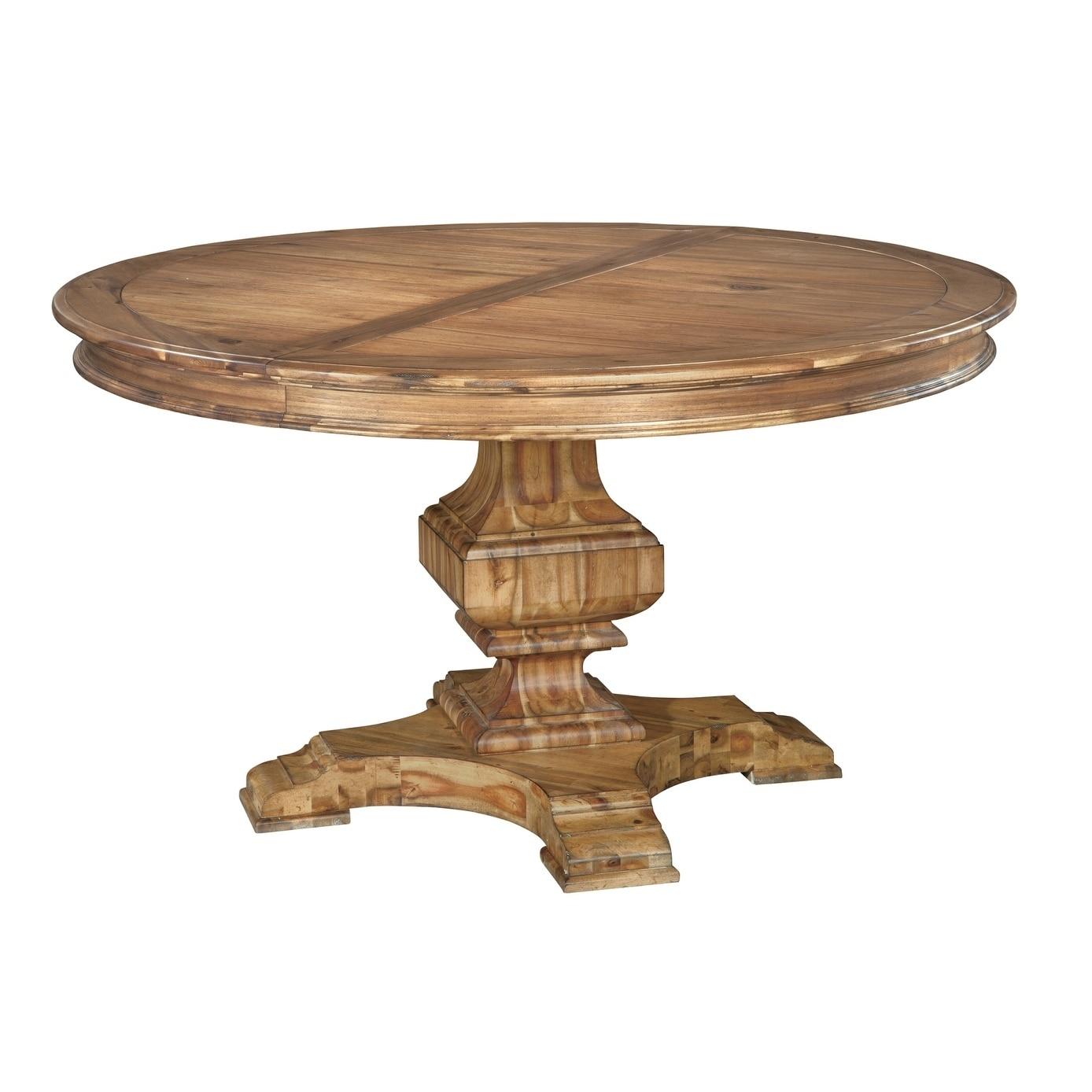 Hekman Furniture Wellington Hall Natural Woodgrain Wood Round Kitchen Dining Table Overstock 24229695