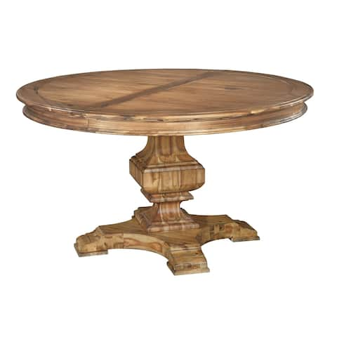 Hekman Furniture Wellington Hall Natural Woodgrain Wood Round Kitchen Dining Table
