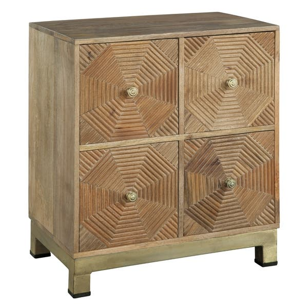 Shop Hekman Accents Contemporary Modern Eclectic Glam Geometric 4 Drawer Hall Chest Bedroom Dresser Chairside Nightstand Overstock 24229740
