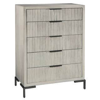 Sierra Heights Contemporary Modern, Coastal, Beachy-Chic 5 Drawer Storage Hall Chest, Tall Bedroom Dresser