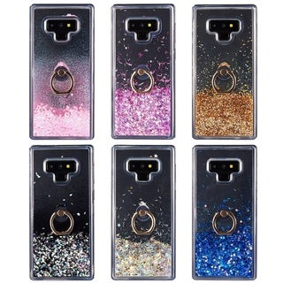 Samsung Galaxy Note 9 Waterfall Ring Liquid Sparkling Quicksand Case