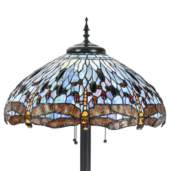 Tiffany Style 24 Inch Lampshade Floor Lamp Victorian