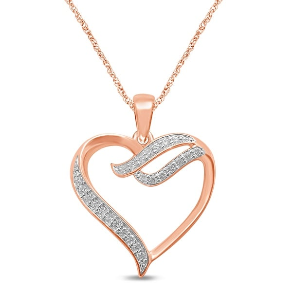 Shop Unending Love 10K Rose Gold 1/8 Cttw White Diamond