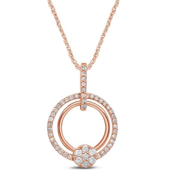 Shop Unending Love 10K Rose Gold 3/8 Cttw Diamond Flower