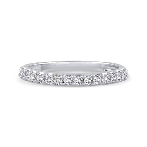 10k White Gold 1/4ct TDW Diamond Wedding Band