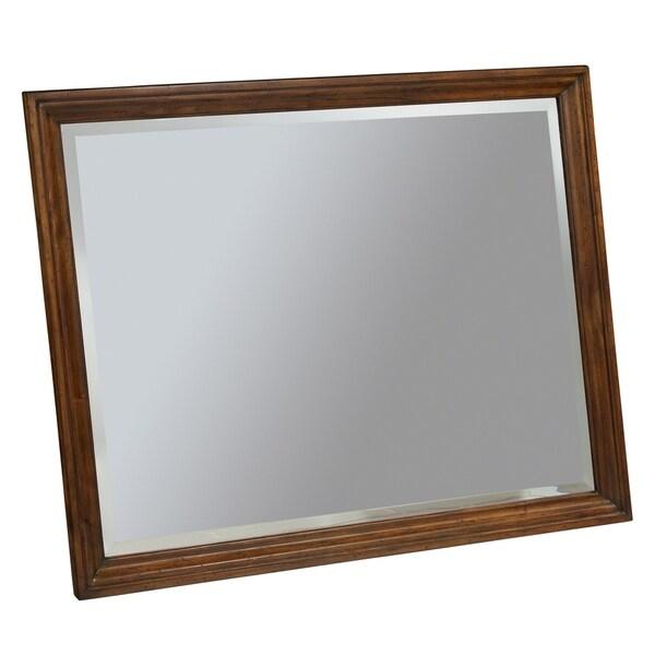 Hekman Furniture Brown Wood/Glass Large Landscape Bedroom Mirror