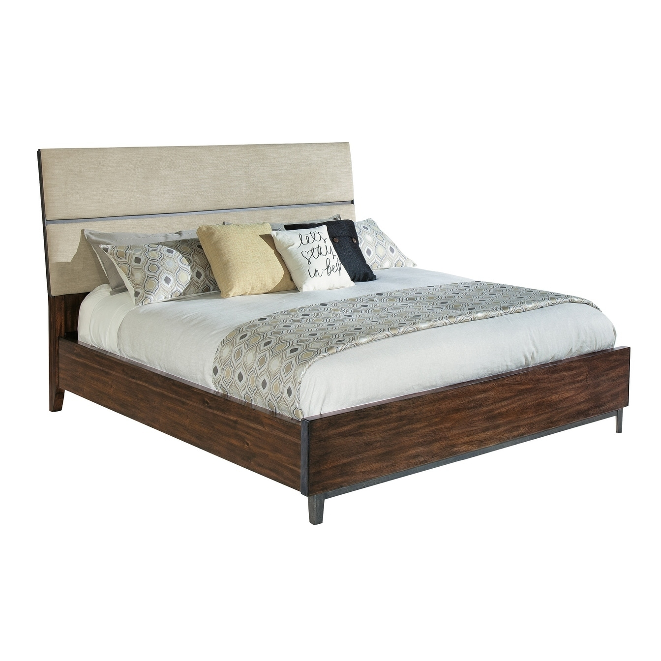 Shop Hekman Furniture Monterey Point Modern Coastal King Upholstered Panel Bed Frame With Headboard Footboard Overstock 24230248
