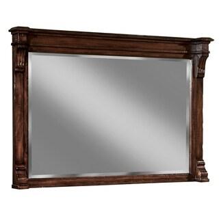 Hekman Furniture Charleston Place Distressed Brown Wood Vintage Rustic Bedroom Mirror