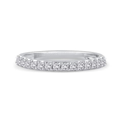 14k White Gold 1/4ct TDW Diamond Wedding Band