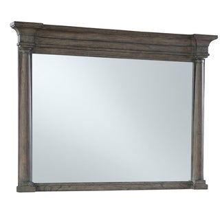 Hekman Furniture Lincoln Park Wide Frame Contemporary Brown Wood/ Veneer Bedroom Accent Post Mirror