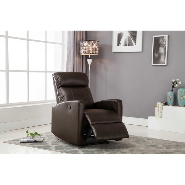Shop HomeRoots Furniture Modern Leather Infused Small