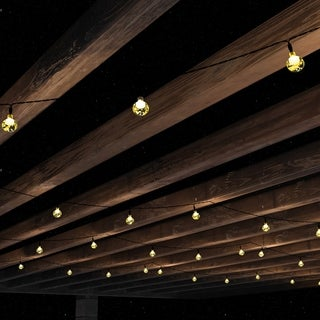 Outdoor Solar Sting Lights- Solar Powered Round Globe by Pure Garden