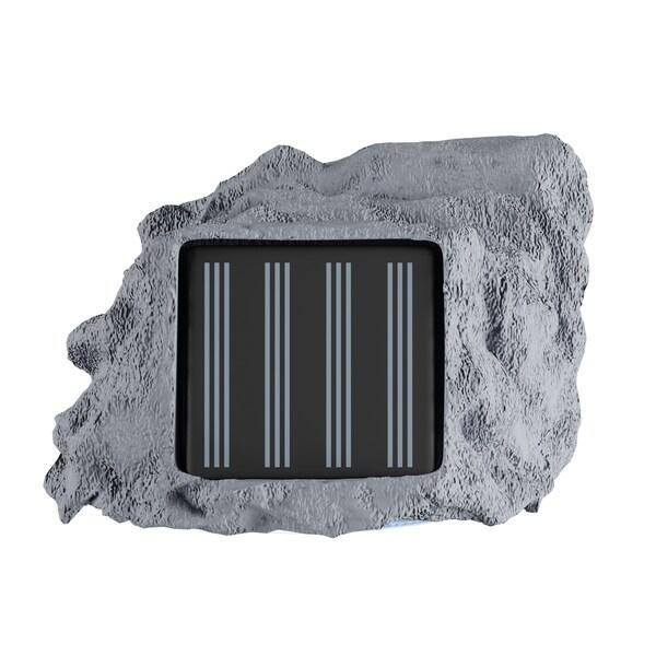 6 x Garden Solar Rock Light Grey 4 White LED AA Ni-CD 600MAH