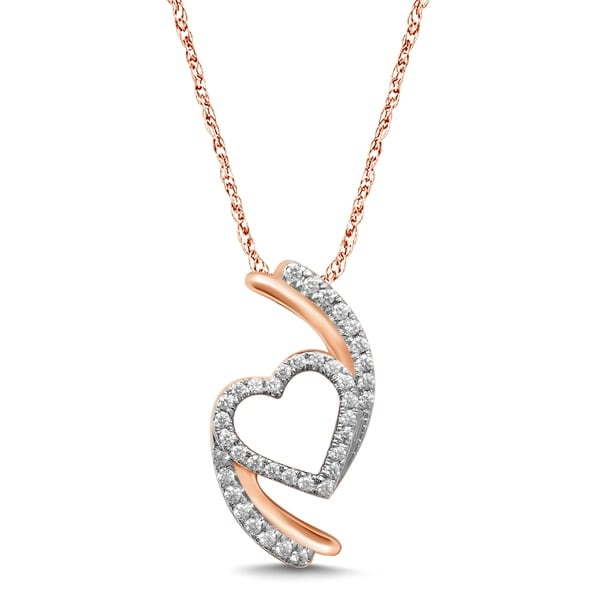 Shop Unending Love 10K Rose Gold 1/5 Cttw Diamond Live