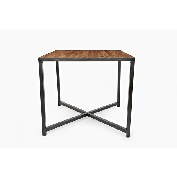 Superb Shop Wooden Counter Height Table With Metal Base Brown Download Free Architecture Designs Rallybritishbridgeorg